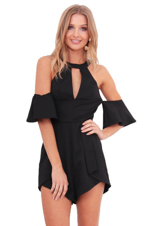INDYA PLAYSUIT - BLACK