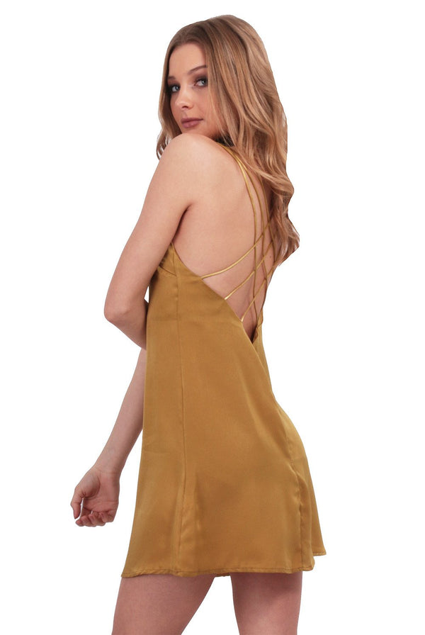 Gold Dust Slip Dress