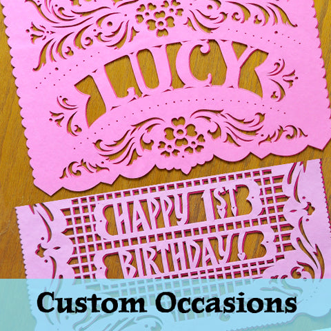 Personalized papel picado by Ay Mujer Shop