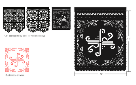Your logo or monogram -custom papel picado