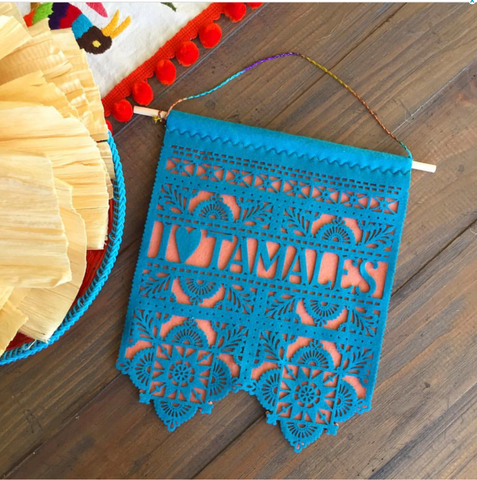 Wall Hanging - I love Tamales - wall art, home decor, tamalada decoration