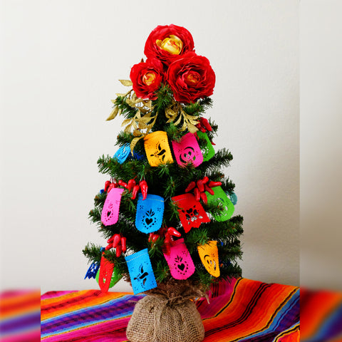 Papel picado Christmas tree garland by Ay Mujer Shop