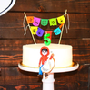 Coco papel picado cake topper by Ay Mujer