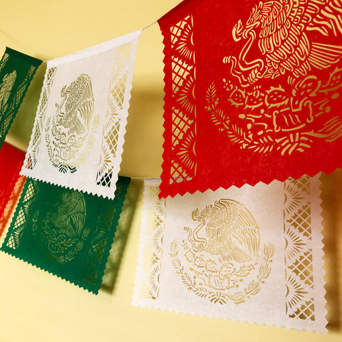 Mexican flag papel picado banner - by Ay Mujer shop