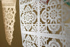 Metallic silver papel picado detail by Ay Mujer Shop