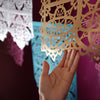Metallic gold papel picado by Ay Mujer Shop
