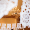 Intricate white Mexican wedding banners by Ay Mujer