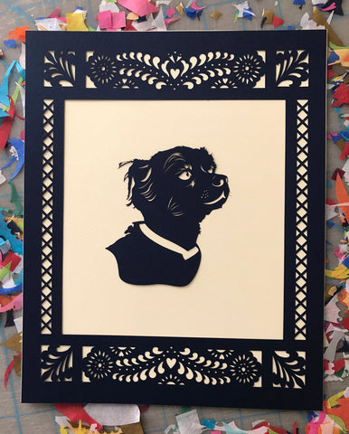 Silhouette pet portrait - Ay Mujer shop