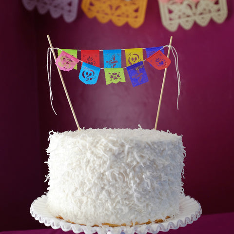 Fiesta mini cake topper papel picado banners by Ay Mujer