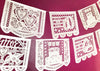 NEW CLASSICS variety wedding papel picado banners - personalized, custom color