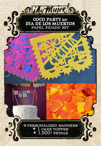 Coco party papel picado by Ay Mujer Shop