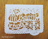 Mi Bautizo personalized papel picado banners for Ay Mujer