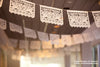 Set - DOS PALOMAS papel picado - custom wedding banners and flags
