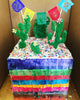 Fiesta cake topper papel picado by Ay Mujer - Cactus cake