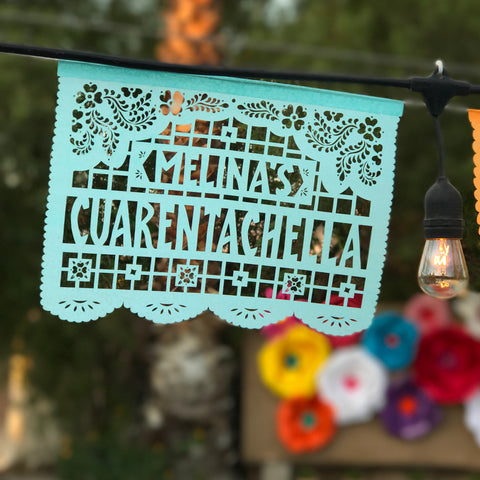 Mexican embroidery inspired papel picado  by Ay Mujer shop