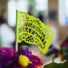 Custom wedding papel picado flags by Ay Mujer Shop