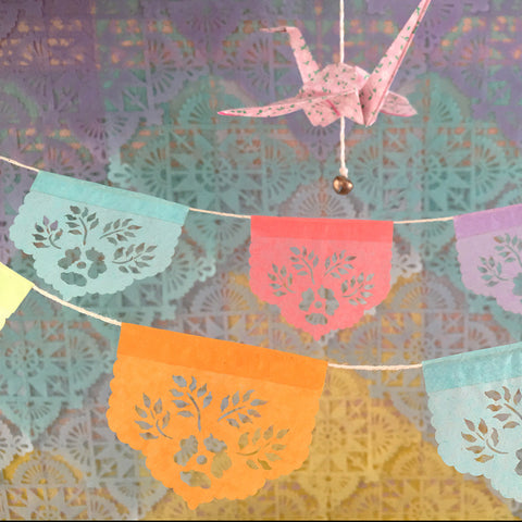 Pastel mini papel picado banners by Ay Mujer shop