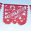 Personalized wedding papel picado banners by Ay Mujer