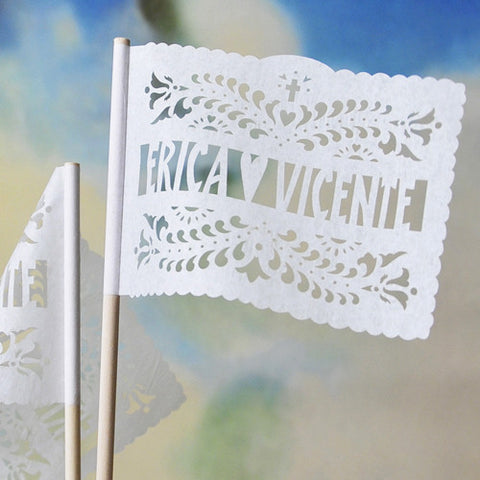 Personalized papel picado flags by aymujershop