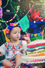 Birthday cake topper  papel picado banners by Ay Mujer