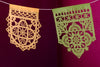TALAVERA mini banners - mixed brights, pastels, or white