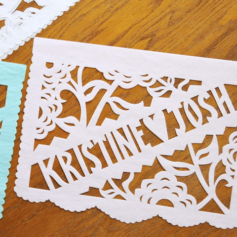 Twilight personalized wedding papel picado banners by Ay Mujer
