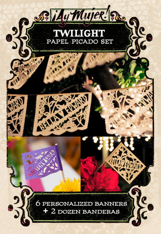 Twilight bulk papel picado set by Ay Mujer Shop