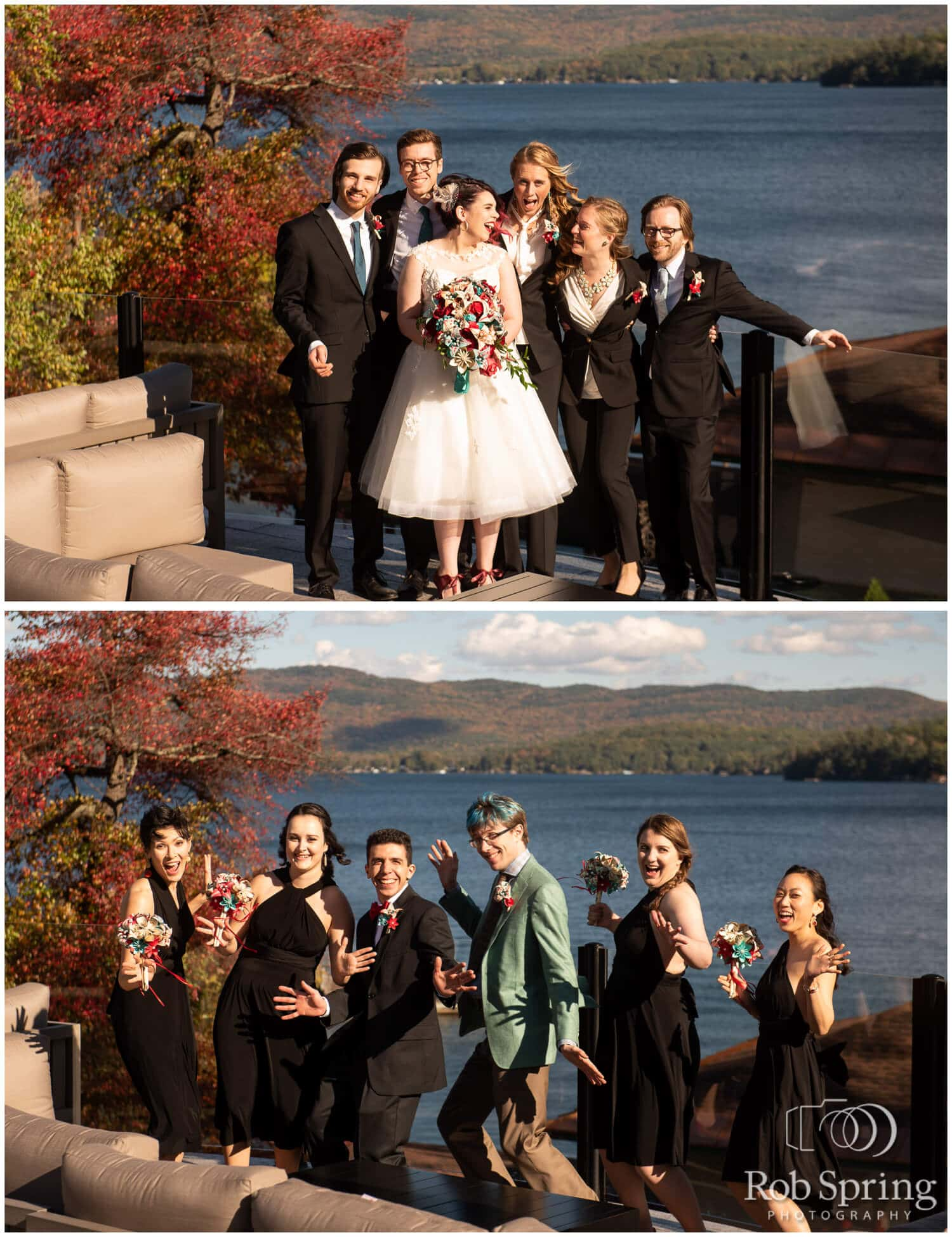 Cascading Comic Book Wedding Package- Your choice of comic & accent colors