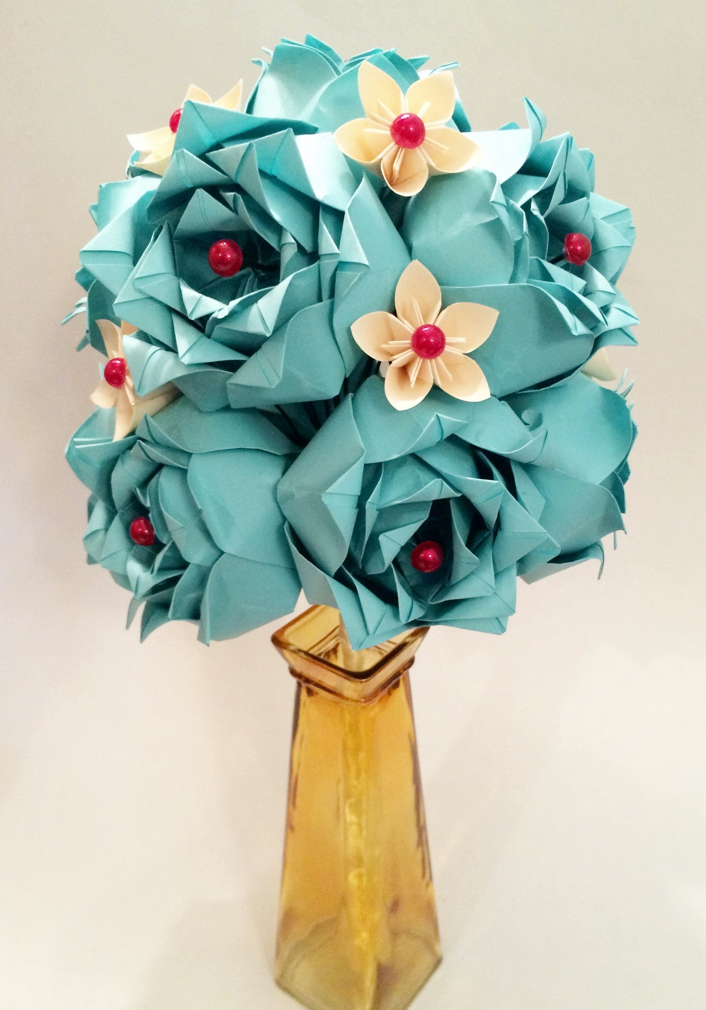Custom Dozen Deluxe Roses- Your choice of accent colors
