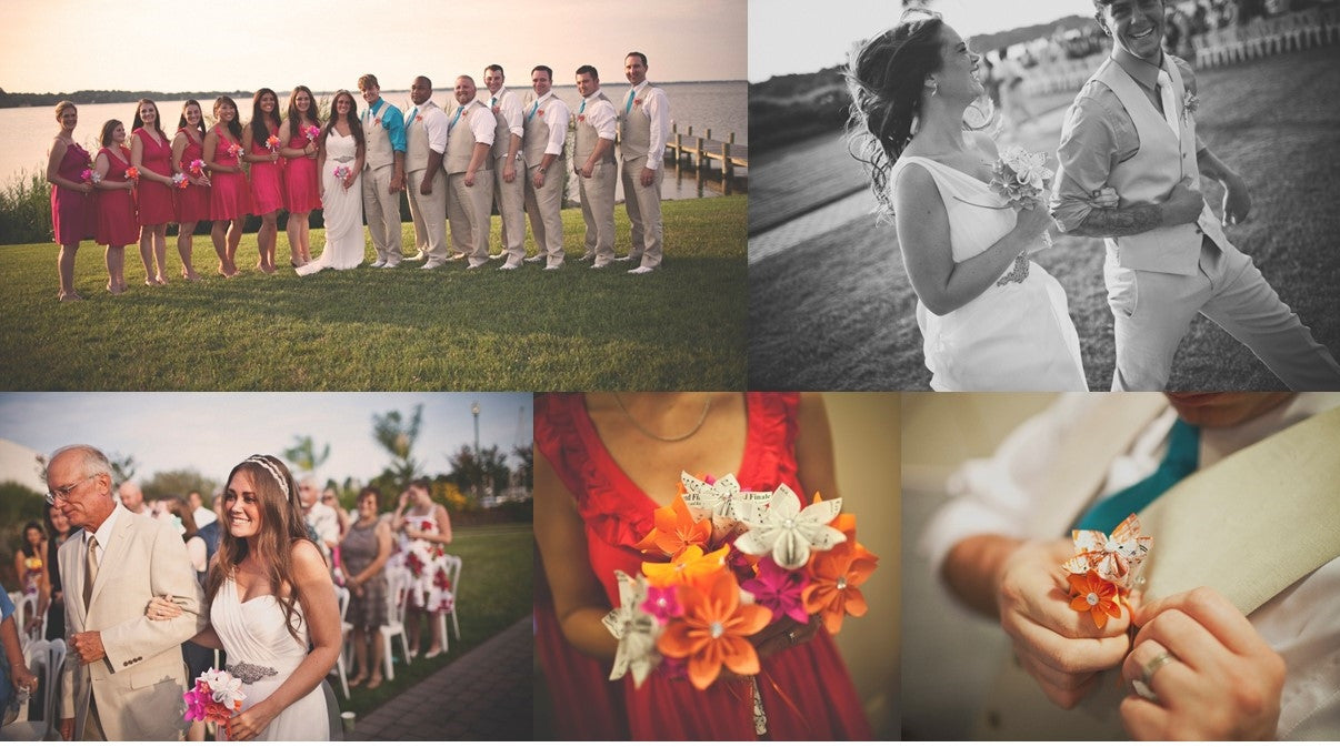 Sheet Music Wedding Package- Your choice of sheet music & color scheme
