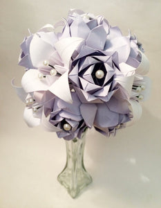 Rose and Lily Bouquet- Your choice of colors, Vase Included