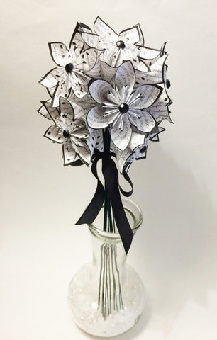 Congrats Grad Gift- Class of 2018 bouquet, one of a kind, congratulations, origami, paper flowers, party decor, college, high school