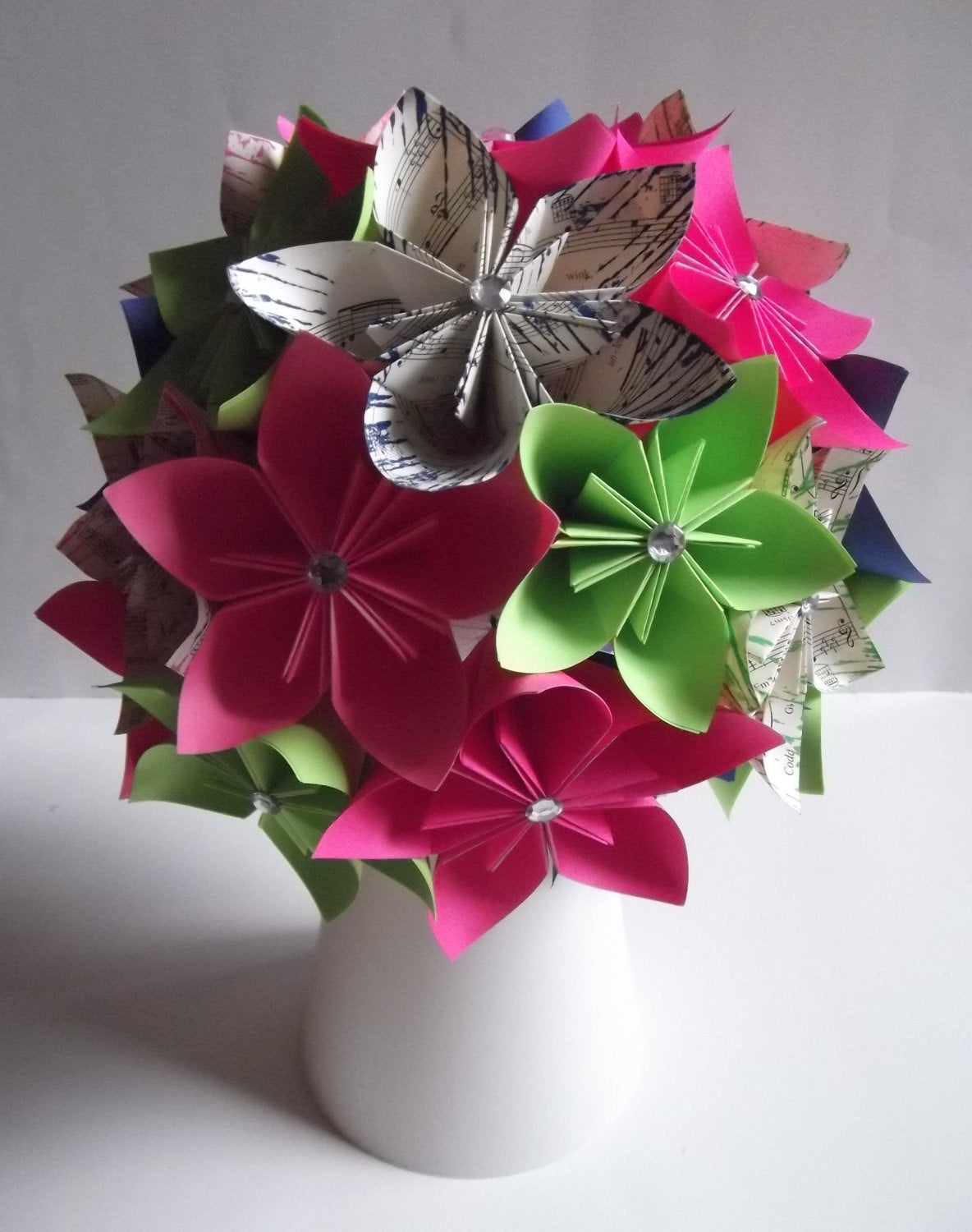 Paper Flower Wedding Centerpiece- one of a kind,decoration, made to order, wedding decor, guest table, head table, origami