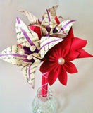 Personalized lilies & flowers Bouquet- 1st anniversary gift, paper flower bouquet, one of a kind, made to order, gifts for her