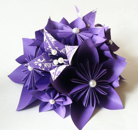 Paper Flower Wedding Centerpiece- paper flowers and lilies, made to order, one of a kind, destination wedding, wedding decor, head table