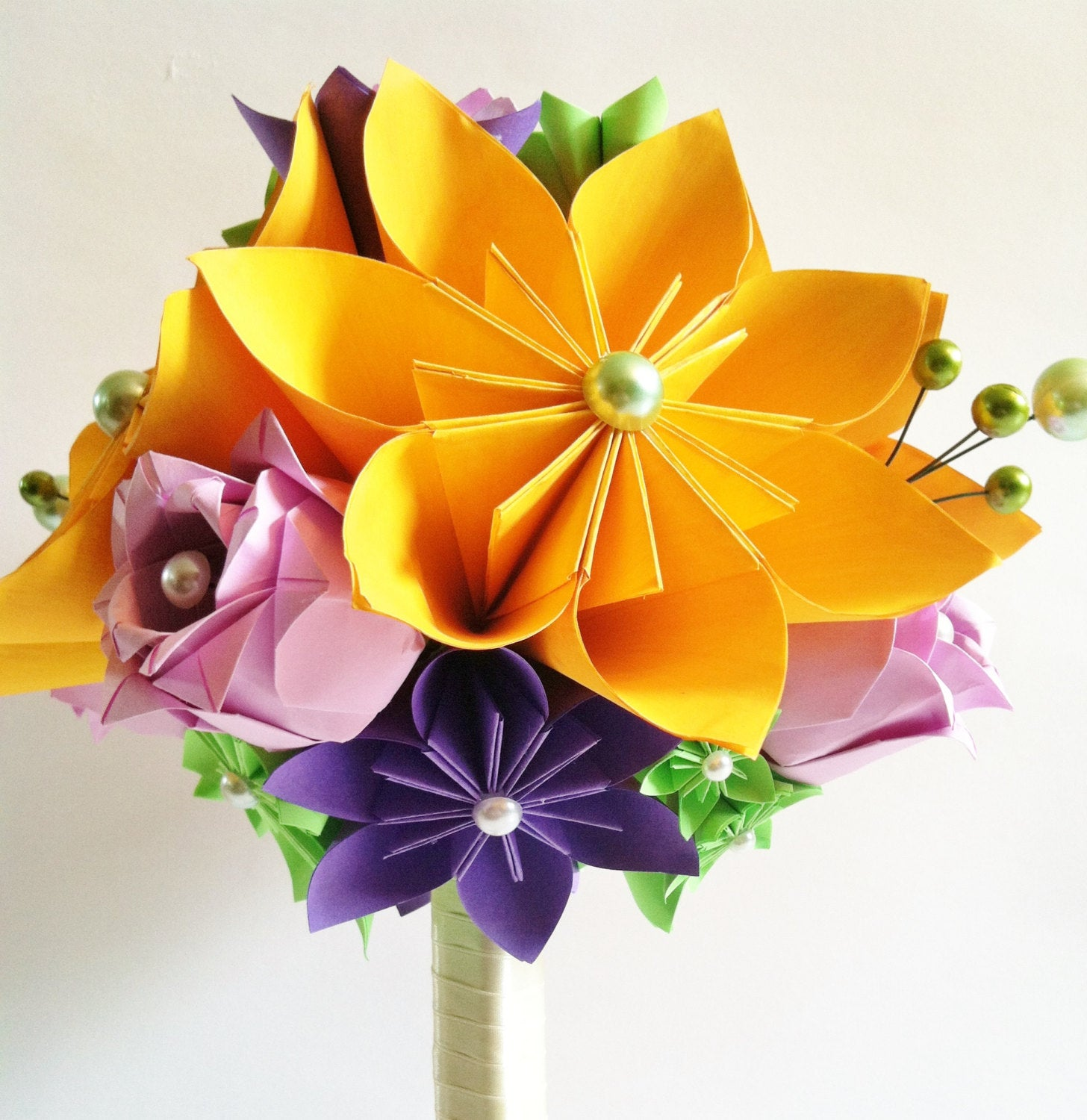 Sunflowers & Roses Paper Bouquet- origami, bouquet recreation, wedding bouquet, bride, bridesmaid, first anniversary