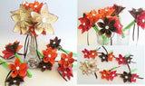 Paper Flowers Wedding Package- handmade, made to order, one of a kind, origami, bridal bouquet, bridesmaid, budget bride, alternative