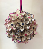 Bridal Flower Pomander- Handmade Wedding Bouquet, Made to order, wedding decoration, Bridal bouquet, origami, one of a kind