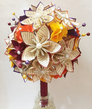 Bridal Bouquet of Paper Flowers- handmade origami, hydrangea, one of a kind, alternative bouquet, fall wedding, anniversary gift