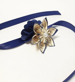 Hydrangea Corsage- hydrangea, mum, prom, homecoming, wedding accessory, handmade, one of a kind, paper flowers, origami