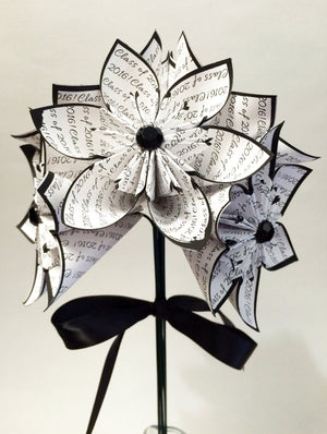 Class of 2018 bouquet- Congrats Graduate, one of a kind gift, congratulations, origami, paper flowers, party decor, college, high school