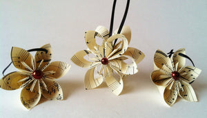 Paper Flower Christmas Tree Ornaments