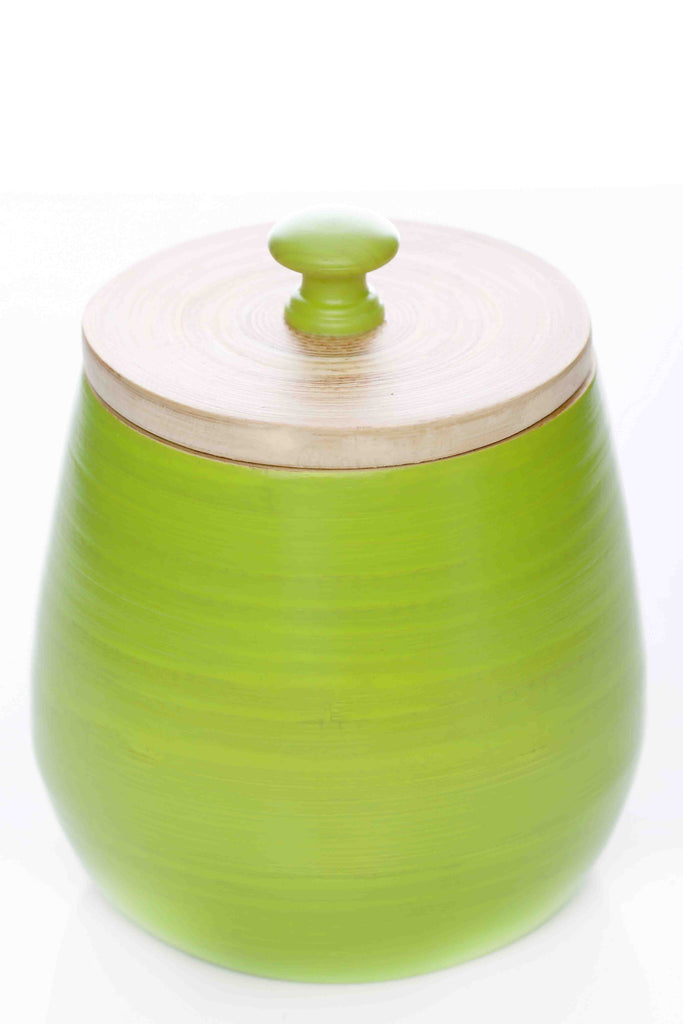zisikki bamboo jar apple green (sbg043)