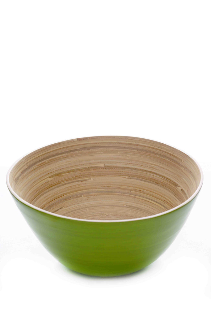 zistrictus bamboo salad bowl apple green (sbg038)
