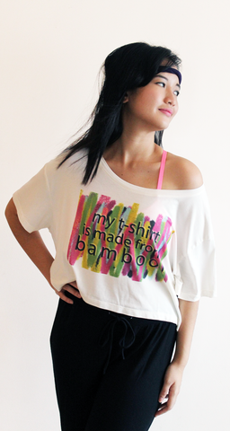 rifera graffiti bamboo crop top_natural (blw015)