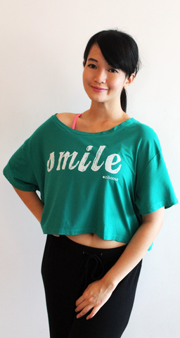 smile rifera bamboo crop top_green turquoise (blw016)