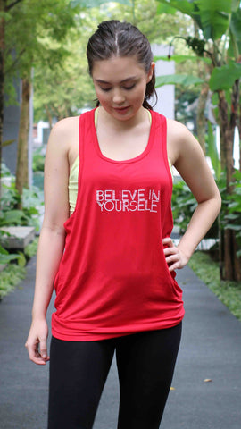 "ventri ""be you"" tank top_red (zaw013)"