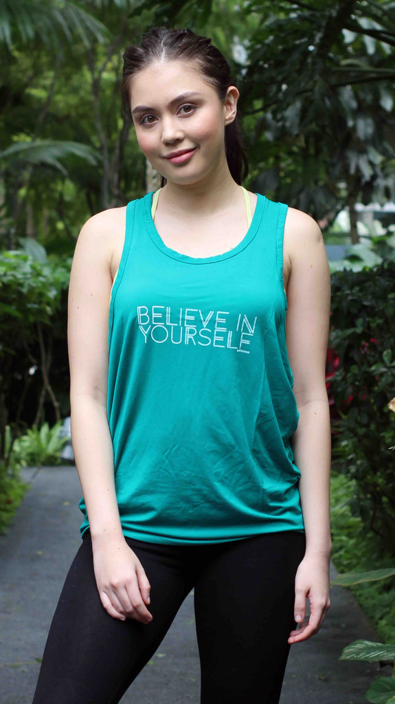 "ventri ""be you"" tank top_green turquoise (zaw013)"