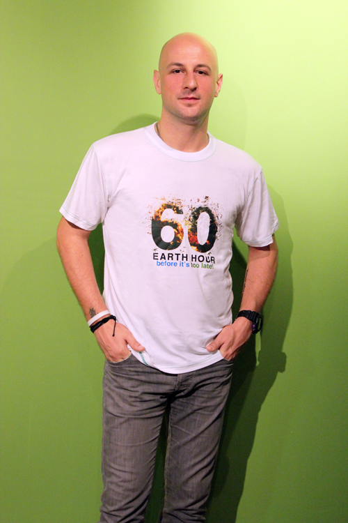 earth hour bamboo round neck t-shirt (bts006)