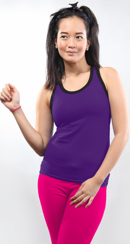 chusquea bamboo tank top_dark purple (bts013w)